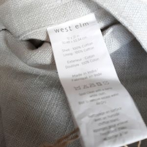 West Elm Bedding - WEST ELM  Dove Gray Beaded Pillow Cover 12x21 in
